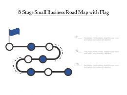 8 Stage Small Business Road Map With Flag