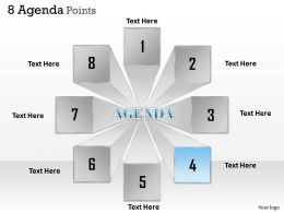 8 Staged Agenda Text Boxes With 3d View 0214