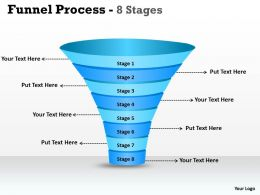 8 Staged Dependent Funnel Diagram