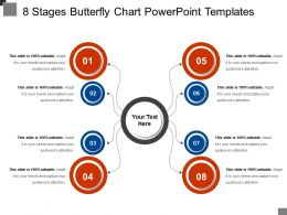 8 Stages Butterfly Chart Powerpoint Templates