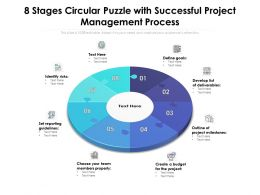 8 Stages Circular Puzzle With Successful Project Management Process