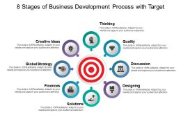8 Stages Of Business Development Process With Target