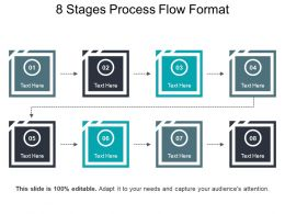 8 Stages Process Flow Format PowerPoint Slide Background Designs