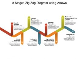 8 Stages Zig Zag Diagram Using Arrows