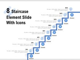 8 Staircase Element Slide With Icons
