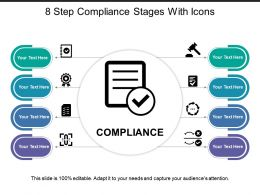 8 Step Compliance Stages With Icons