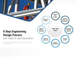 8 Step Engineering Design Process With Select And Idea Generation