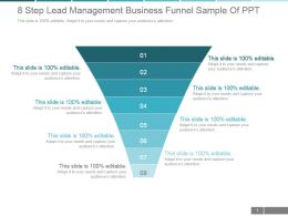 8 Step Lead Management Business Funnel Sample Of Ppt