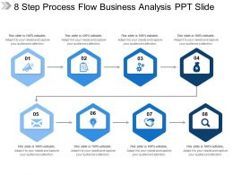8 Step Process Flow Business Analysis Ppt Slide