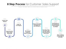 8 Step Process For Customer Sales Support
