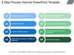 8 Step Process Hazmat Powerpoint Template