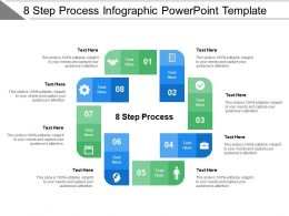 8 Step Process Infographic Powerpoint Template