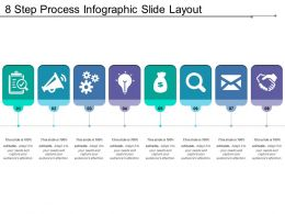 8 Step Process Infographic Slide Layout