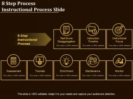 8 Step Process Instructional Process Slide
