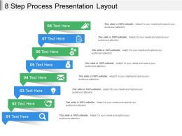 8 Step Process Presentation Layout