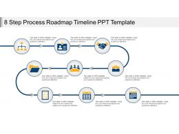 8 Step Process Roadmap Timeline Ppt Template
