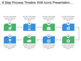8 Step Process Timeline With Icons Presentation Slide
