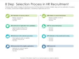 8 Step Selection Process In HR Recruitment