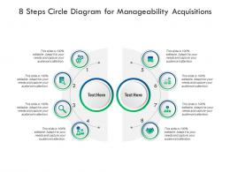 8 Steps Circle Diagram For Manageability Acquisitions Infographic Template