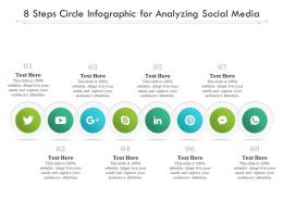 8 Steps Circle For Analyzing Social Media Infographic Template