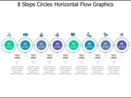 8 Steps Circles Horizontal Flow Graphics