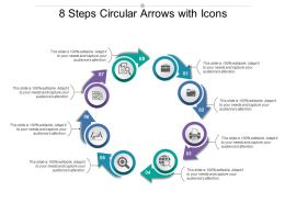 8 Steps Circular Arrows With Icons
