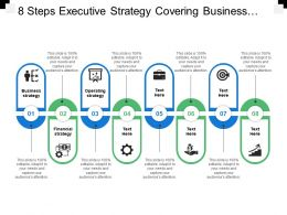 8 Steps Executive Strategy Covering Business Financial And Operational Strategy