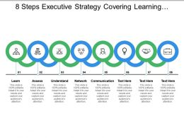 8 Steps Executive Strategy Covering Learning Assess Understand Network And Communication