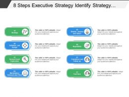 8 Steps Executive Strategy Identify Strategy Design Research Review And Negotiation