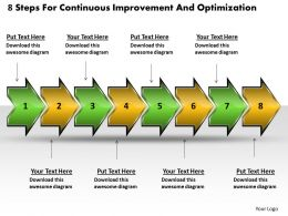 8_steps_for_continuous_improvement_and_optimization_schematic_drawing_powerpoint_slides_Slide01
