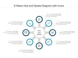 8 Steps Hub And Spoke Diagram With Icons