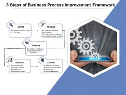8 Steps Of Business Process Improvement Framework