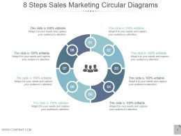 8 Steps Sales Marketing Circular Diagrams Powerpoint Layout