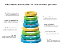 8 Steps To Starting Your Own Business With Blocks And Layers Graphic