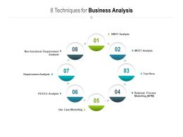 8 Techniques For Business Analysis