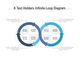 8 Text Holders Infinite Loop Diagram