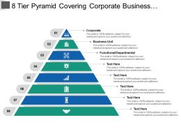 8 Tier Pyramid Covering Corporate Business Unit And Functional Departmental