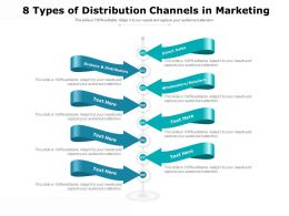 8 Types Of Distribution Channels In Marketing