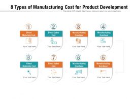 8 Types Of Manufacturing Cost For Product Development