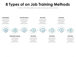 8 Types Of On Job Training Methods