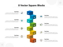 8 Vector Square Blocks