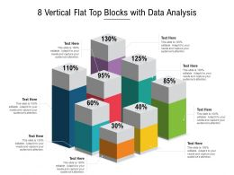 8 Vertical Flat Top Blocks With Data Analysis