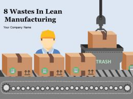 8 Wastes In Lean Manufacturing Powerpoint Presentation Slides