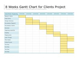 8 Weeks Gantt Chart For Clients Project