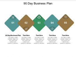 90 Day Business Plan Ppt Powerpoint Presentation File Deck Cpb