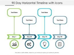 90 Day Horizontal Timeline With Icons