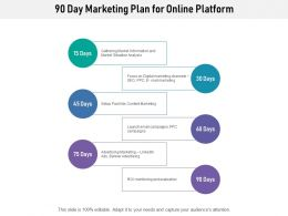 90 Day Marketing Plan For Online Platform