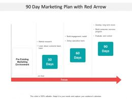 90 Day Marketing Plan With Red Arrow