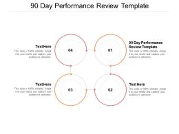 90 Day Performance Review Template Ppt Powerpoint Presentation Example Cpb