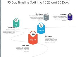 90 Day Timeline Split Into 10 20 And 30 Days